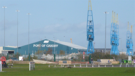 Port of Cardiff in Cardiff Bay